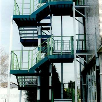 Rectangular stairs with two colors