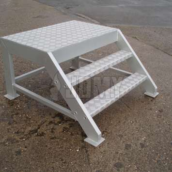 small two step industrial ladder